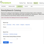 Using the FamilySearch Catalog