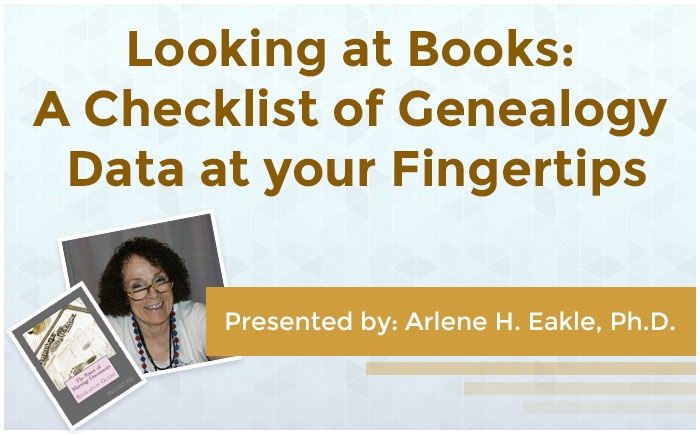 Looking at Books: A Checklist of Genealogy Data at your Fingertips