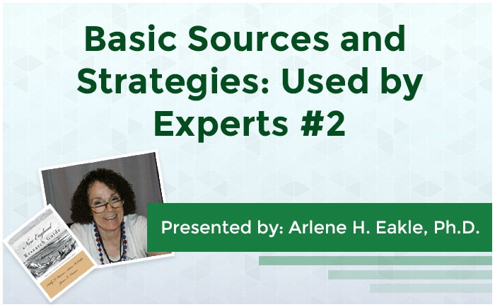 Basic Sources and Strategies: Used by Experts #2