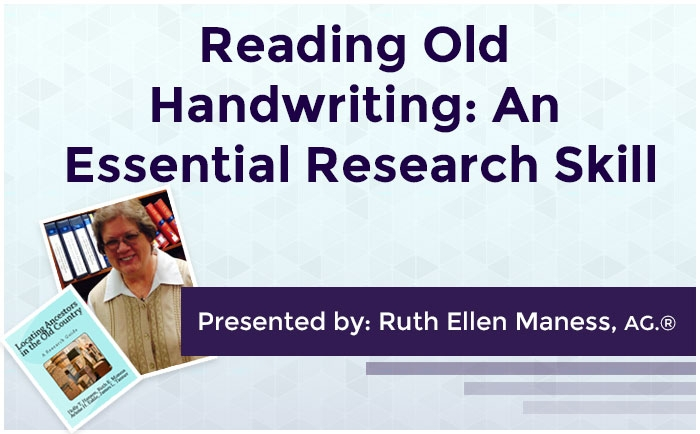 Reading Old Handwriting: An Essential Research Skill