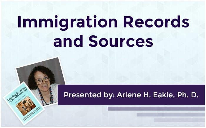 Immigration Records and Sources