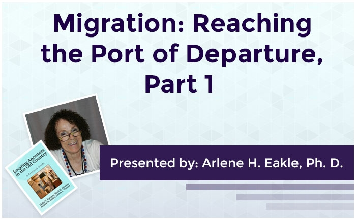 Migration: Reaching the Port of Departure, Part 1
