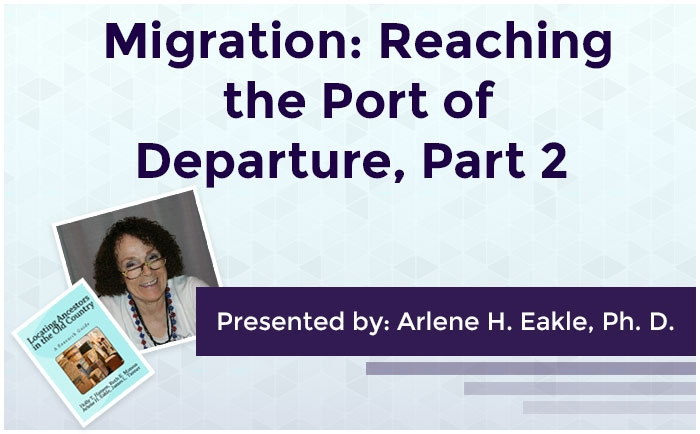 Migration: Reaching the Port of Departure, Part 2