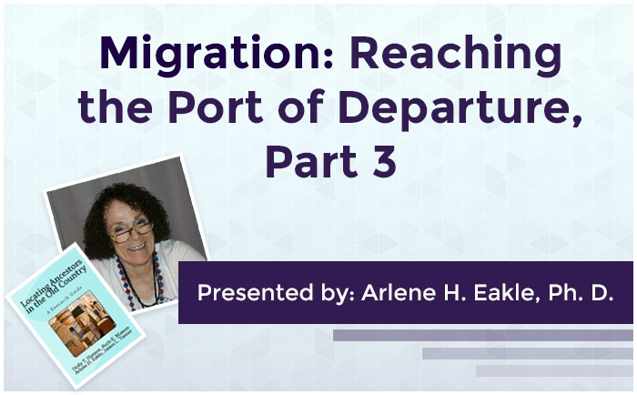 Migration: Reaching the Port of Departure, Part 3