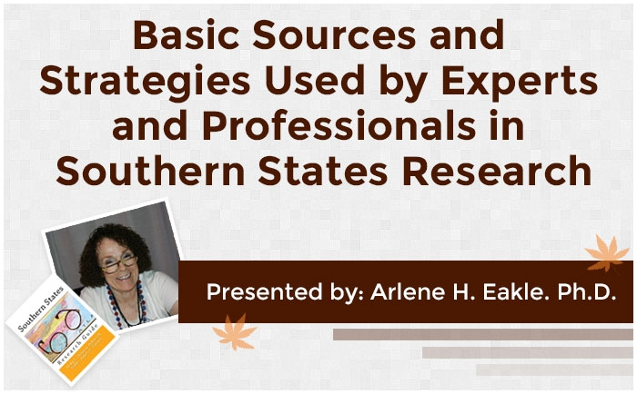 Basic Sources and Strategies Used by Experts and Professionals in Southern States Research