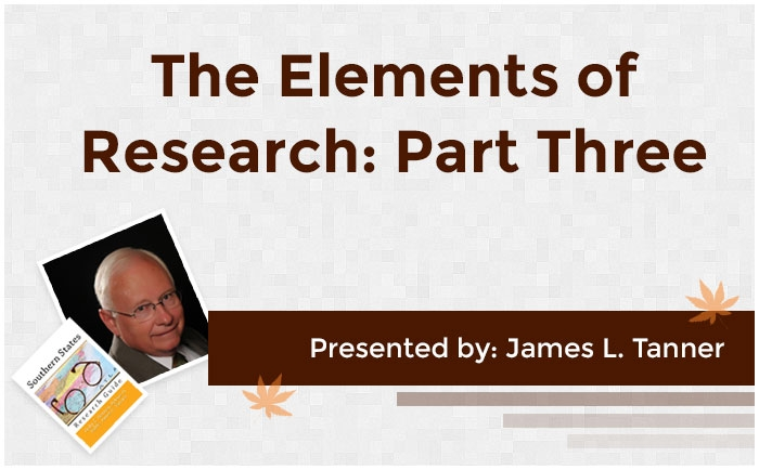 The Elements of Research: Part Three