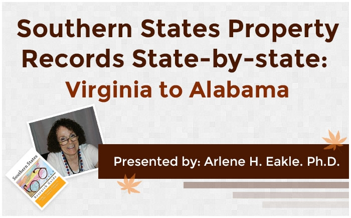 Southern States Property Records State-by-state: Virginia to Alabama