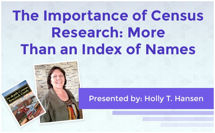 The Importance of Census Research: More Than an Index of Names