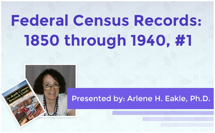 Federal Census Records: 1850 through 1940, #1