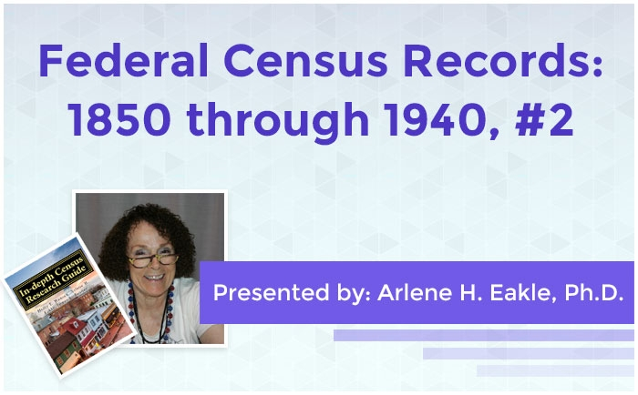 Federal Census Records: 1850 through 1940, #2