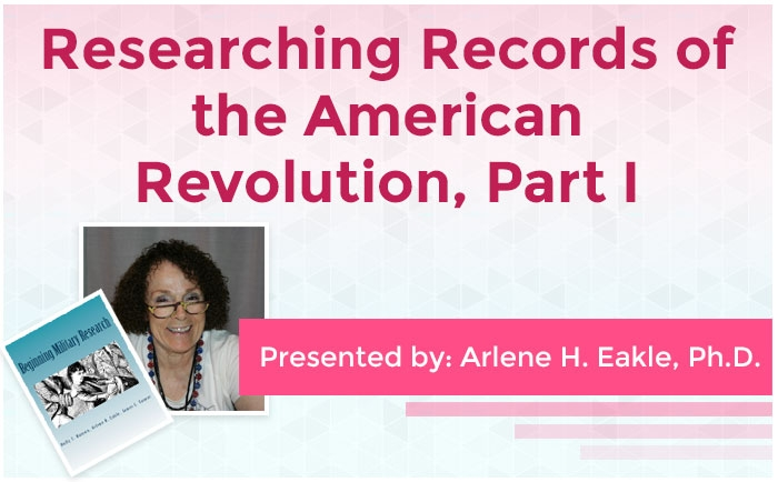 Researching Records of the American Revolution #1