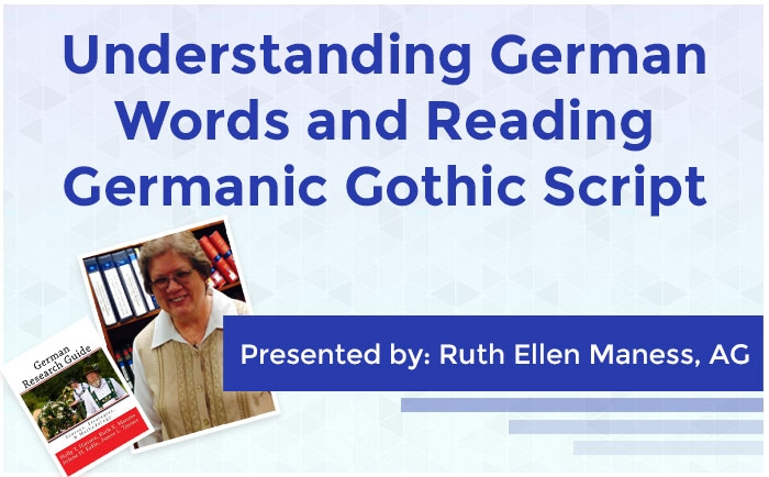 Understanding German Words and Reading Germanic Gothic Script