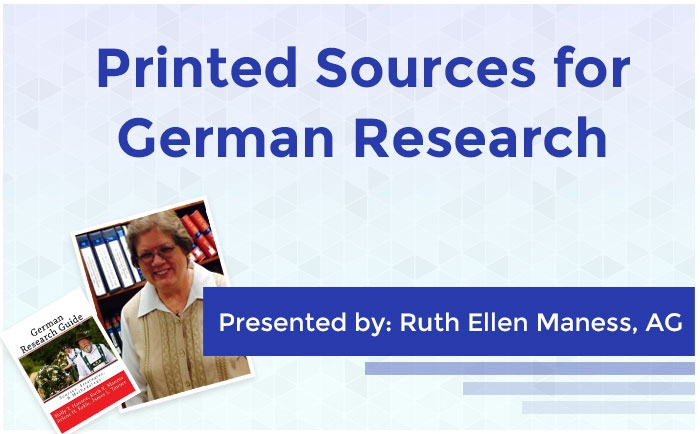 Printed Sources for German Research