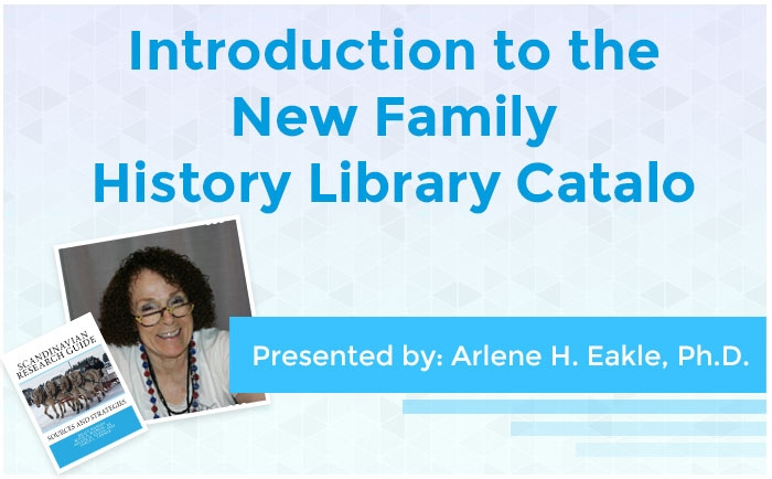 Introduction to the New Family History Library Catalog