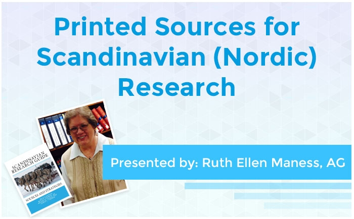Printed Sources for Scandinavian (Nordic) Research