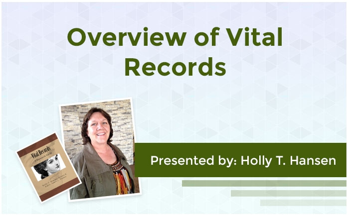 Overview of Vital Records