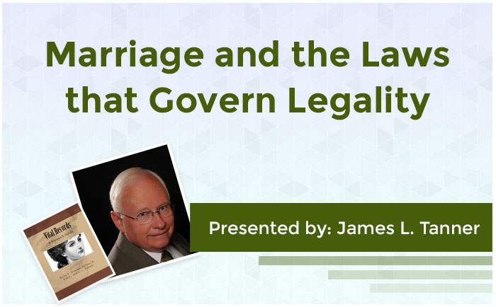Marriage and the Laws that Govern Legality