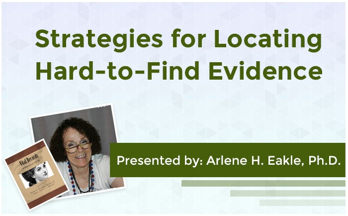 Strategies for Locating Hard-to-Find Evidence