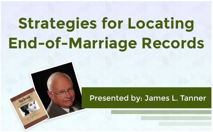 Strategies for Locating End-of-Marriage Records