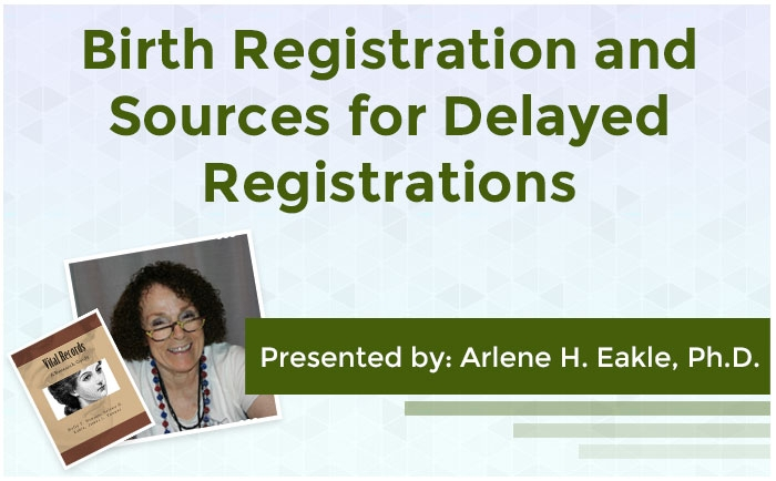 Birth Registration and Sources for Delayed Registrations