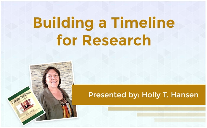 Building a Timeline for Research