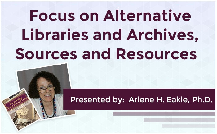 Focus on Alternative Libraries and Archives, Sources and Resources