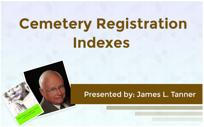 Cemetery Registration Indexes