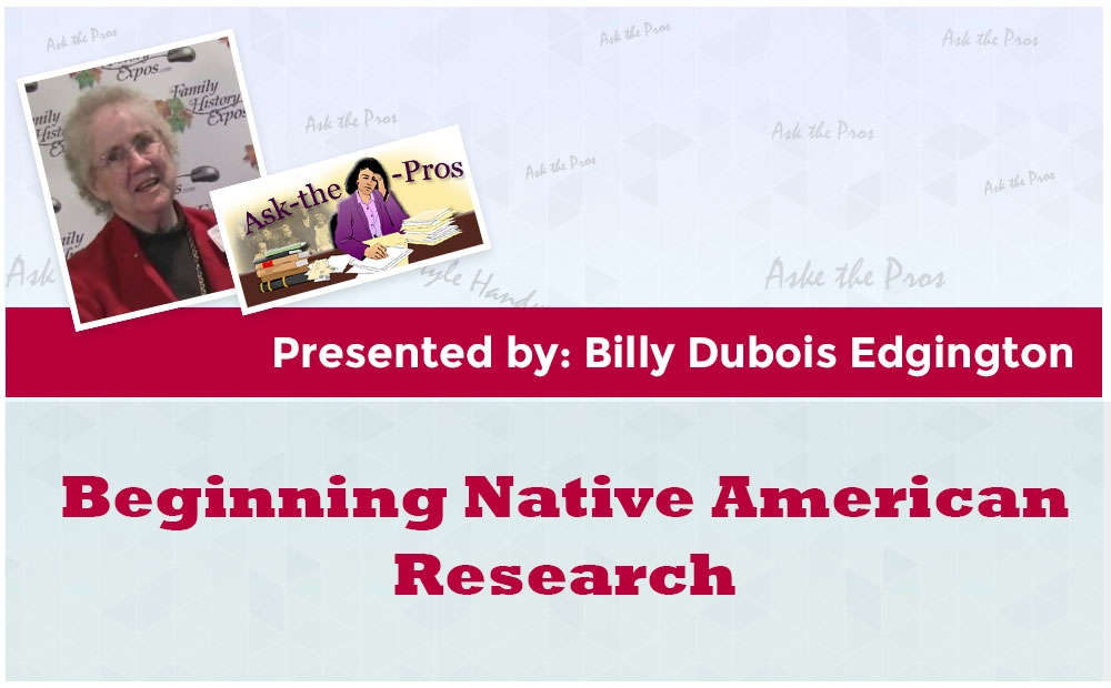 Beginning Native American Research