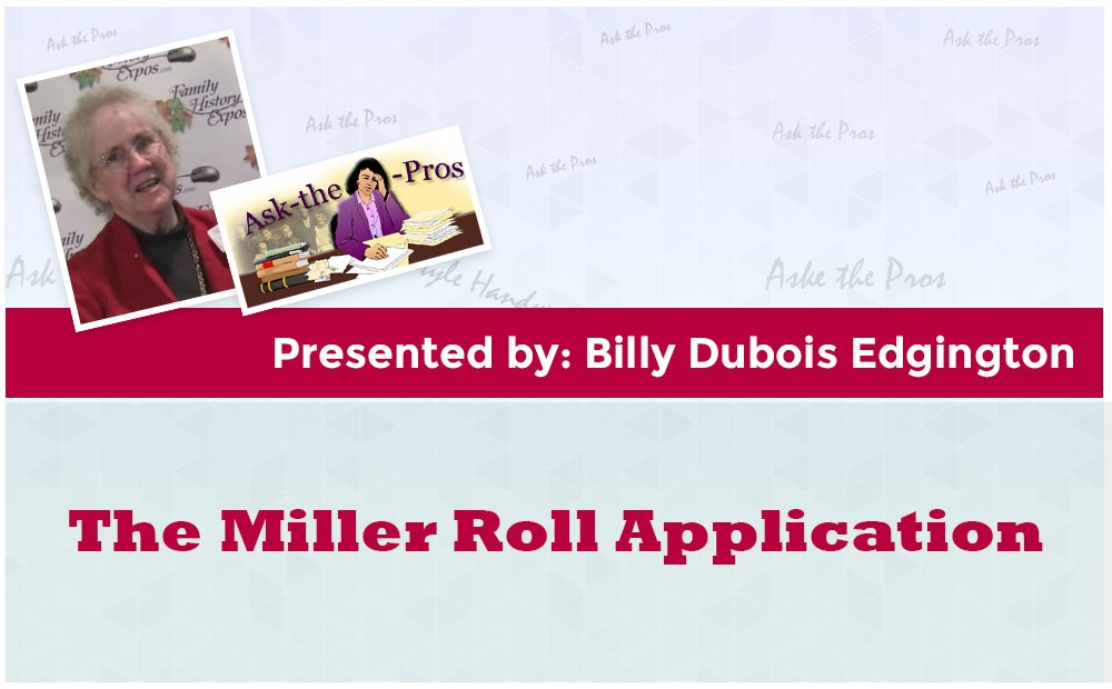 The Miller Roll Application