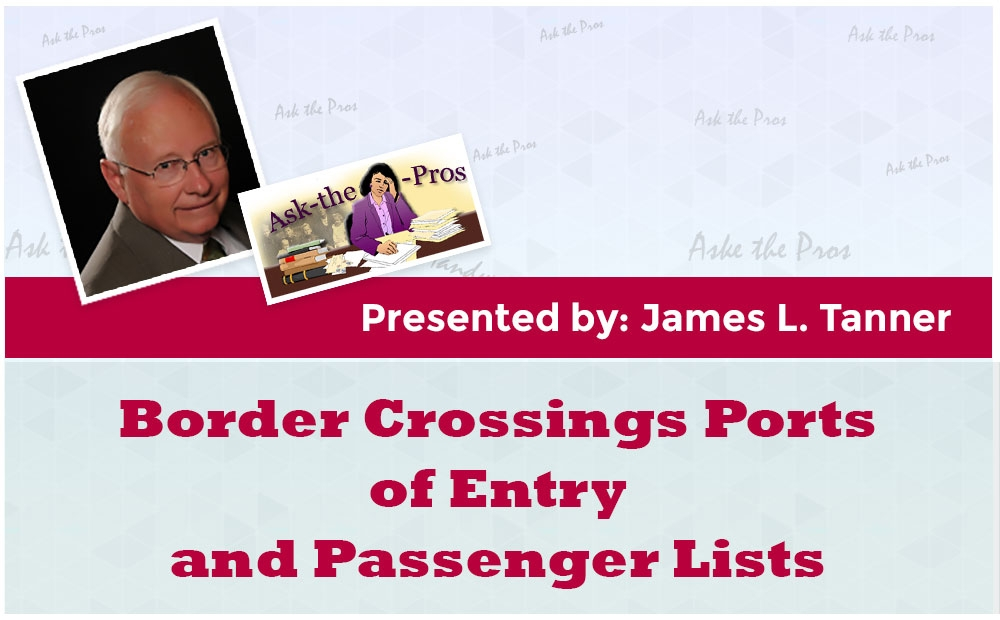 Border Crossings Ports of Entry and Passenger Lists