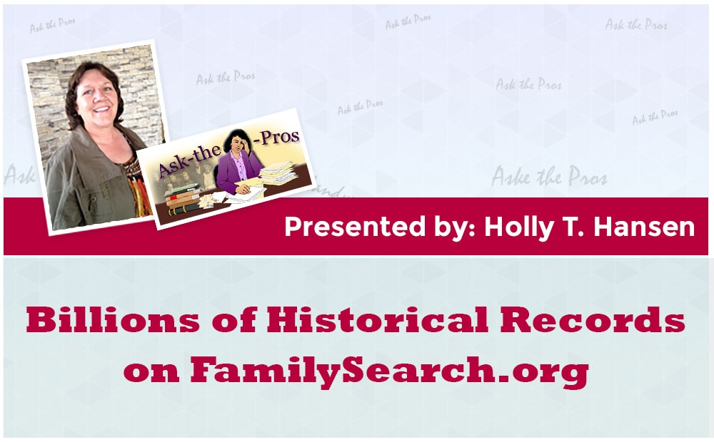 Billions of Historical Records on FamilySearch.org