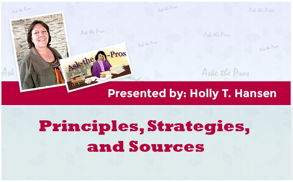 Principles, Strategies, and Sources