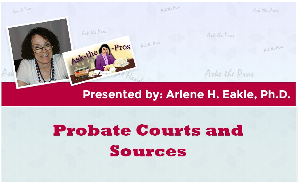 Probate Courts and Sources
