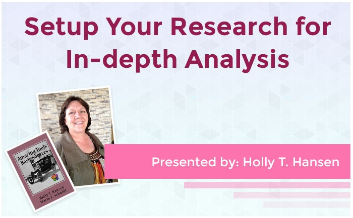 Setup Your Research for In-depth Analysis