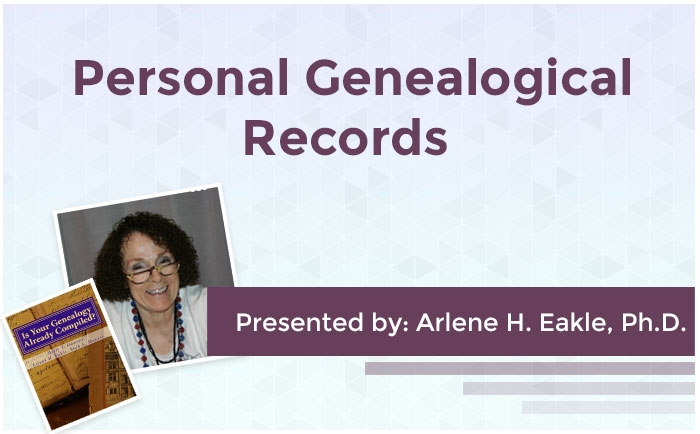 Personal Genealogical Records